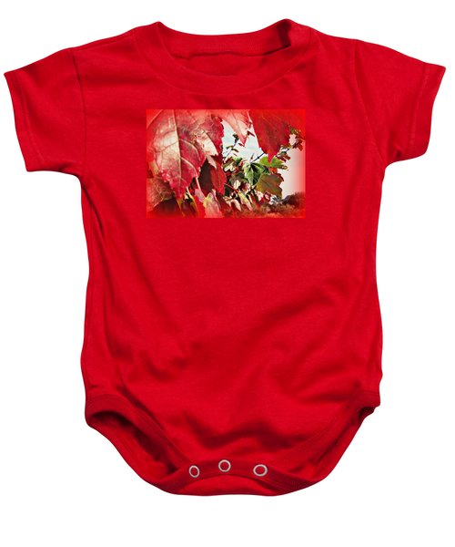 Fall Leaves #10 Baby Onesie