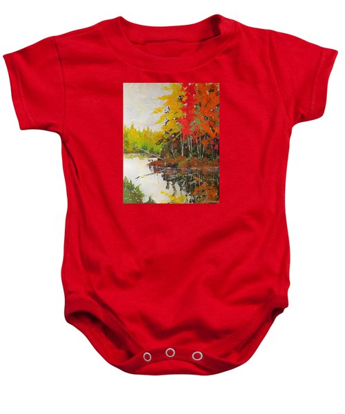 Fall Scene Baby Onesie