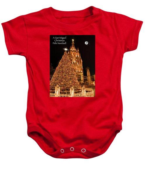 Feliz Navidad Baby Onesie