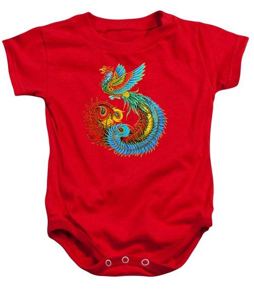 Fenghuang Chinese Phoenix Baby Onesie by Rebecca Wang
