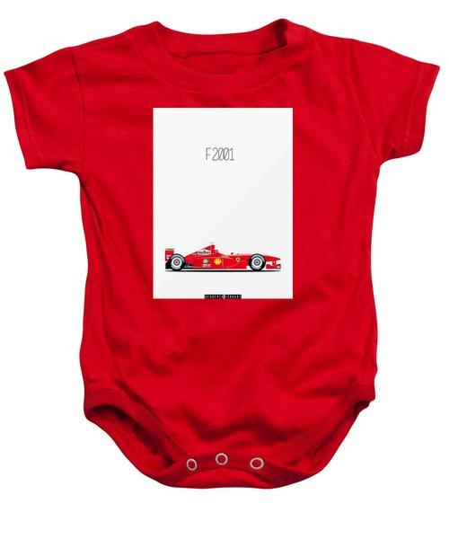 Ferrari F2001 F1 Poster Baby Onesie