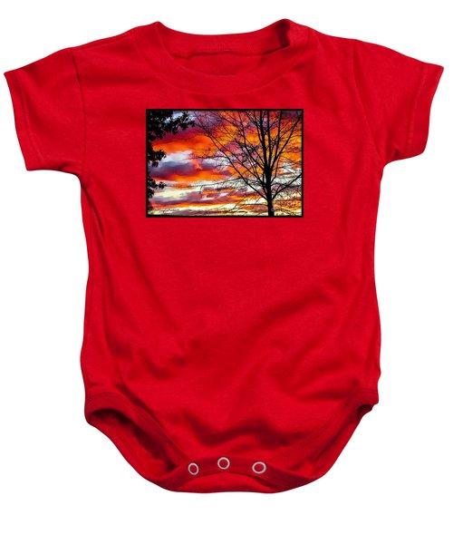 Fire Inthe Sky Baby Onesie