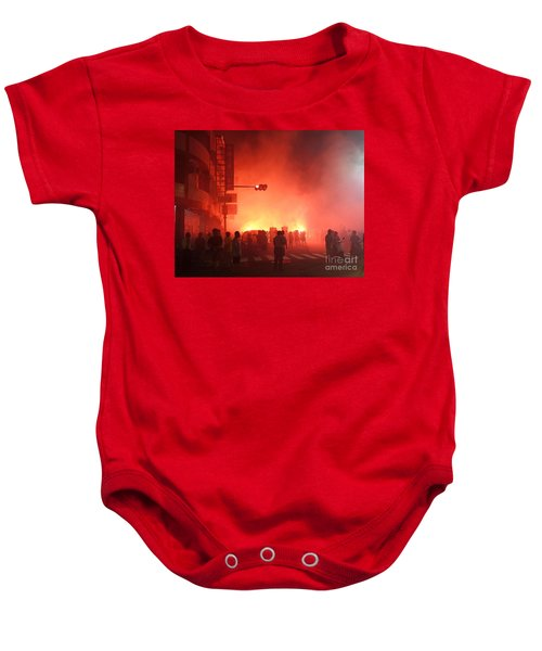 Fireworks During A Temple Procession Baby Onesie