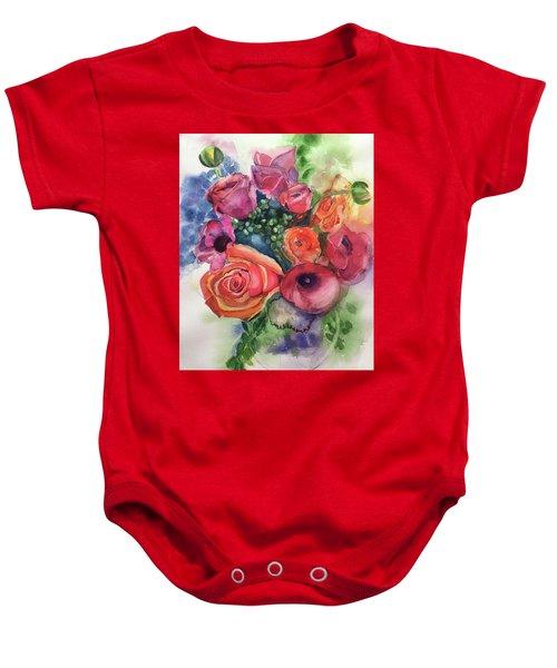 Floral Fantasy Baby Onesie