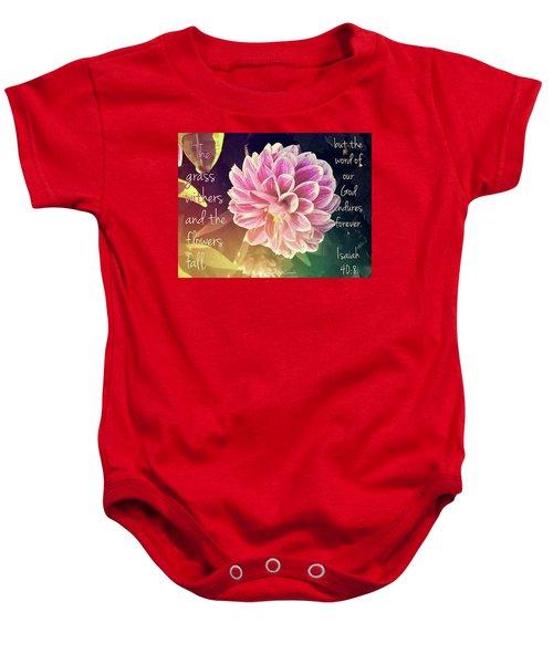 Flower With Scripture Baby Onesie