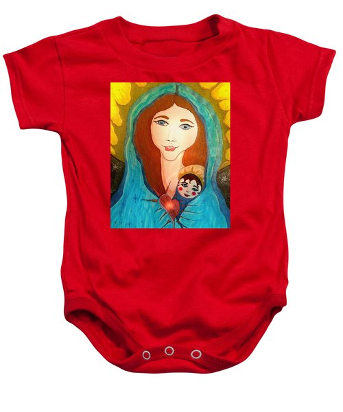 Folk Mother And Child Baby Onesie