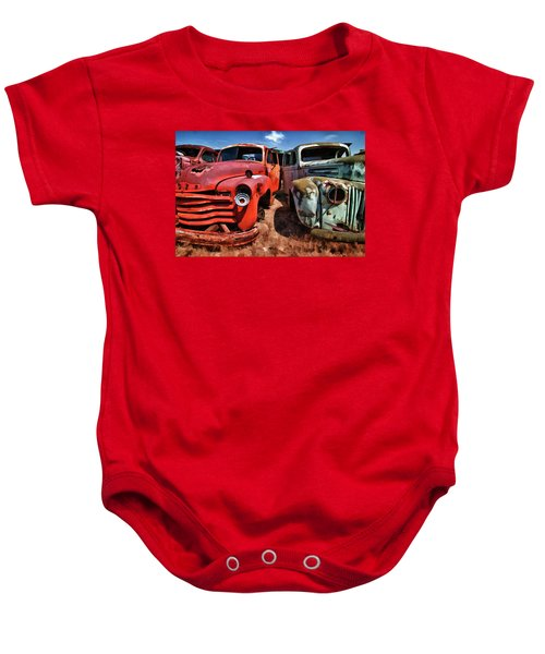 Ford And Chevy Standoff Baby Onesie
