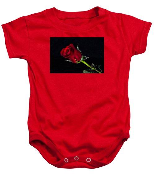 Forever Lasting Rose  Baby Onesie