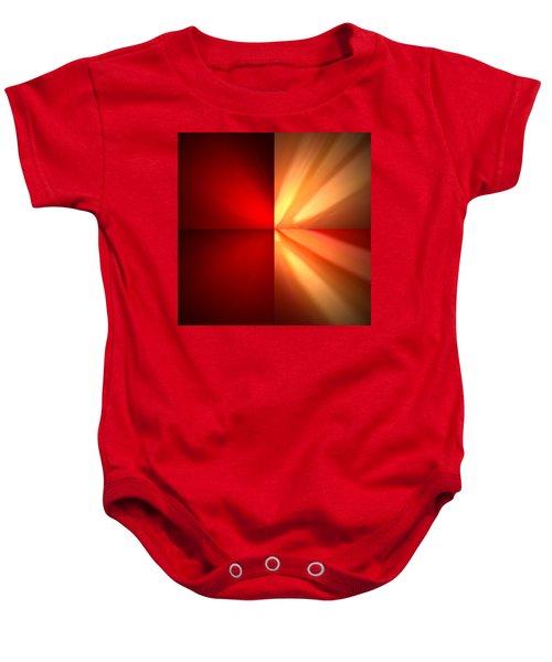 Fractal 6 Baby Onesie
