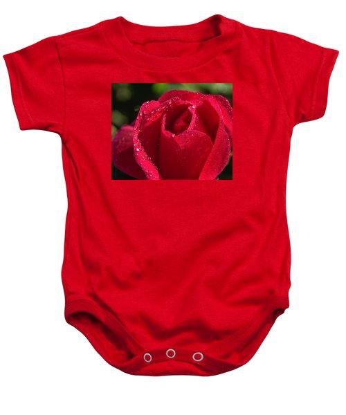 Fresh Rose Baby Onesie