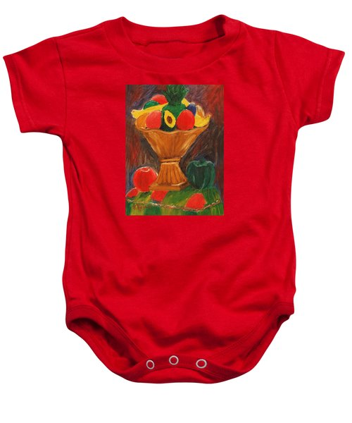Fruits Still Life Baby Onesie by Jose Rojas