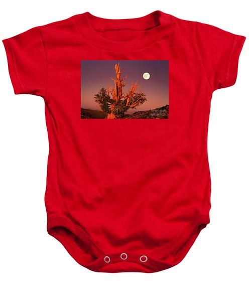 Full Moon Behind Ancient Bristlecone Pine White Mountains California Baby Onesie