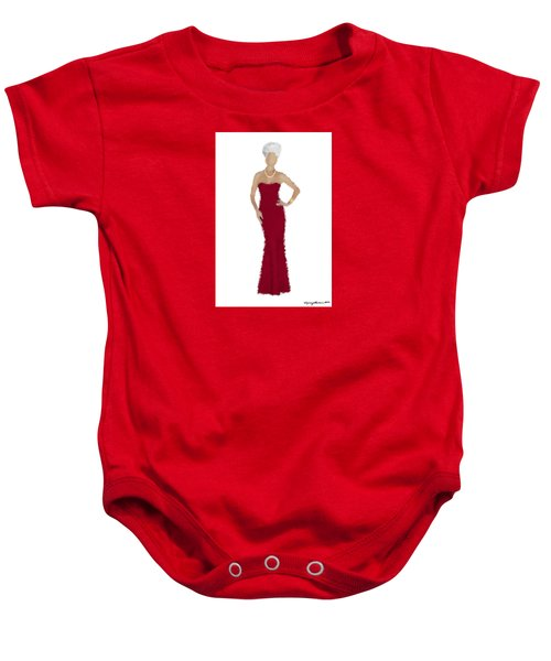 Baby Onesie featuring the digital art Garnet by Nancy Levan