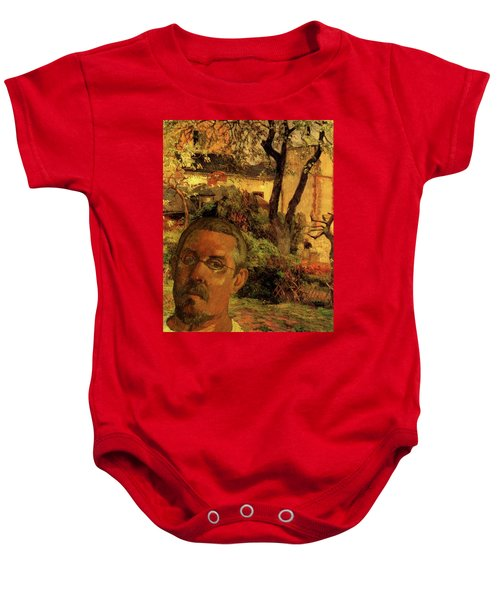 Gauguin Study In Orange Baby Onesie