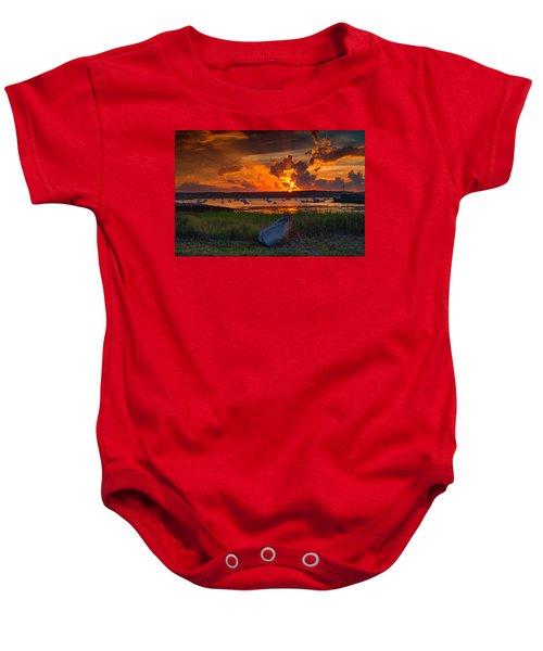 Gloucester Harbor Sunset Baby Onesie