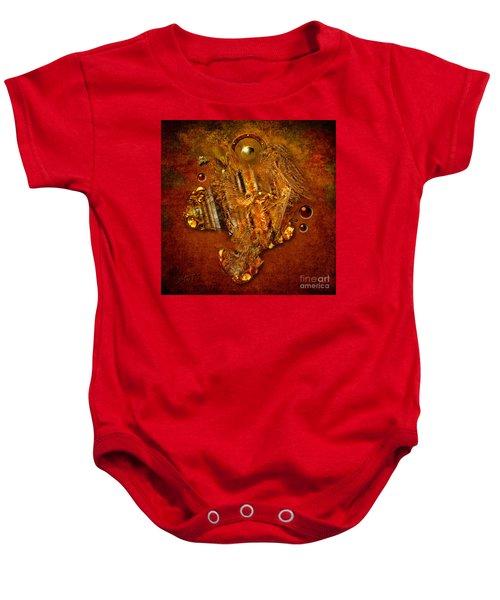 Gold Angel Baby Onesie