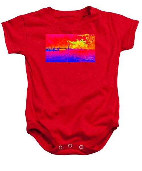 Golden Gate Mod Pop Baby Onesie