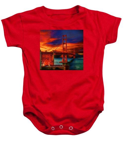 Golden Gate Sunset Baby Onesie