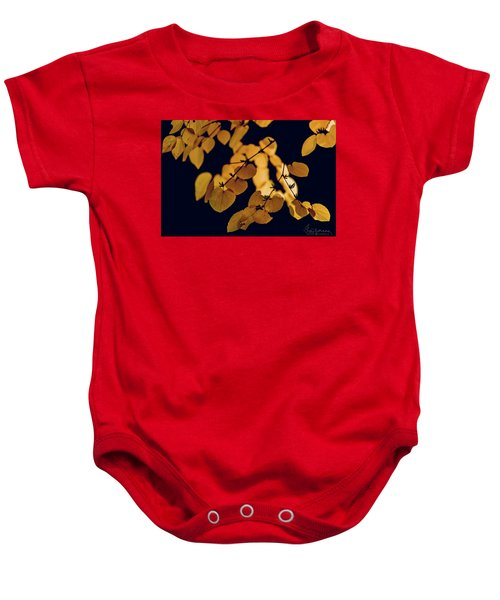 Golden Baby Onesie