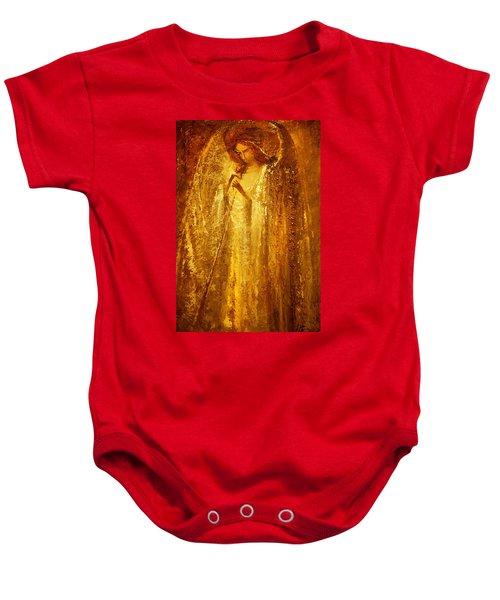 Golden Light Of Angel Baby Onesie