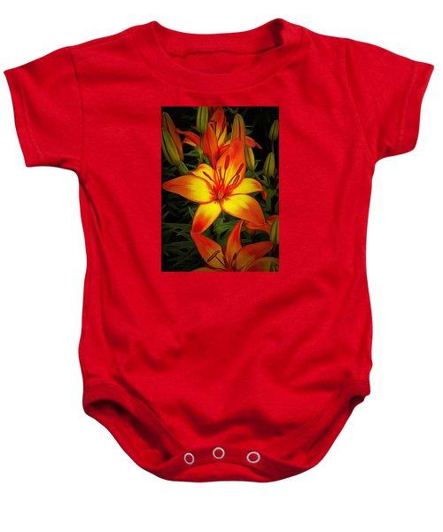 Golden Lilies Baby Onesie