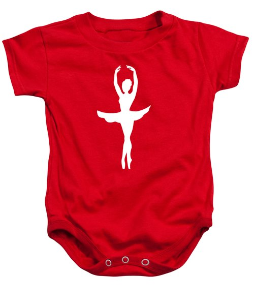 Graceful Silhouette Of Dancing Ballerina Baby Onesie
