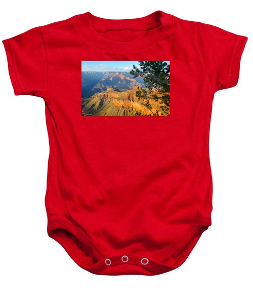 Grand Canyon South Rim - Pine At Right Baby Onesie