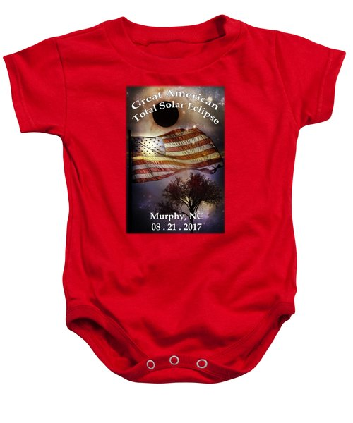 Great American Eclipse American Flag T Shirt Art Baby Onesie