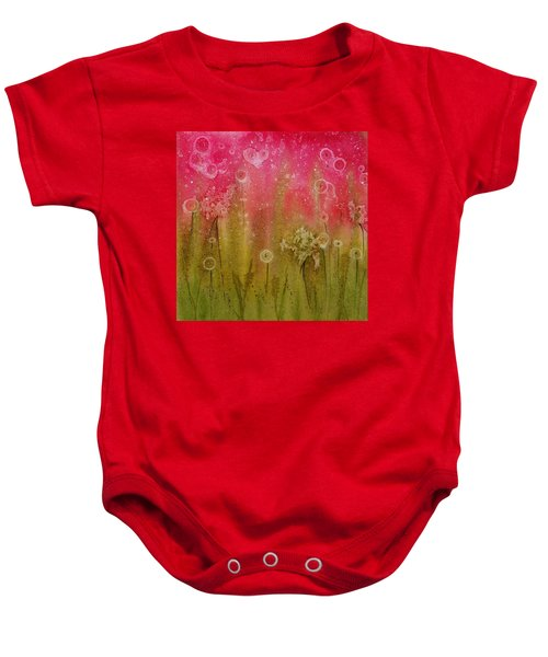Green Abstract Baby Onesie