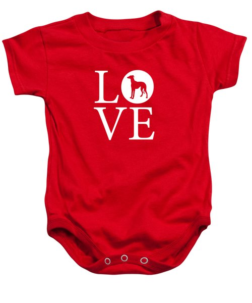 Greyhound Love Red Baby Onesie