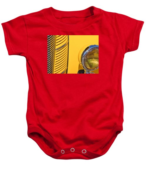 Grilled Chrome To Yellow Baby Onesie