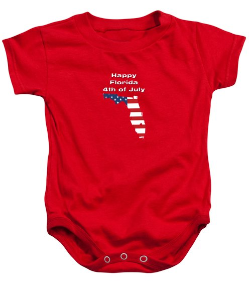 Happy Florida 4th Of July Baby Onesie