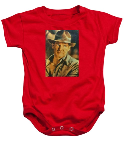 Harrison Ford As Indiana Jones Baby Onesie