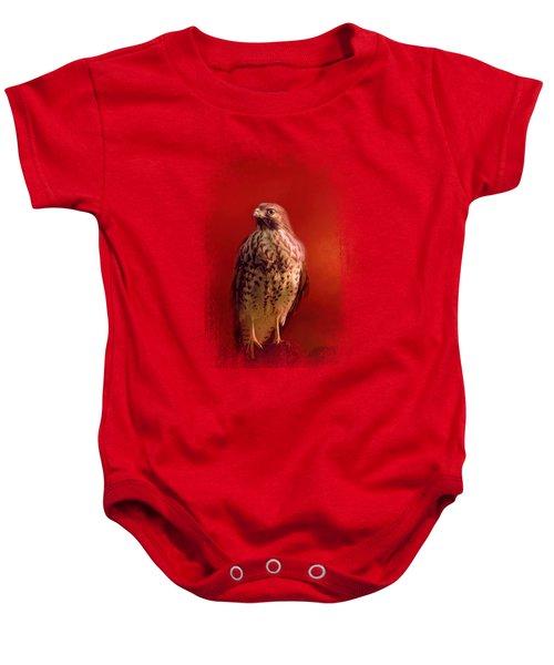 Hawk On A Hot Day Baby Onesie by Jai Johnson