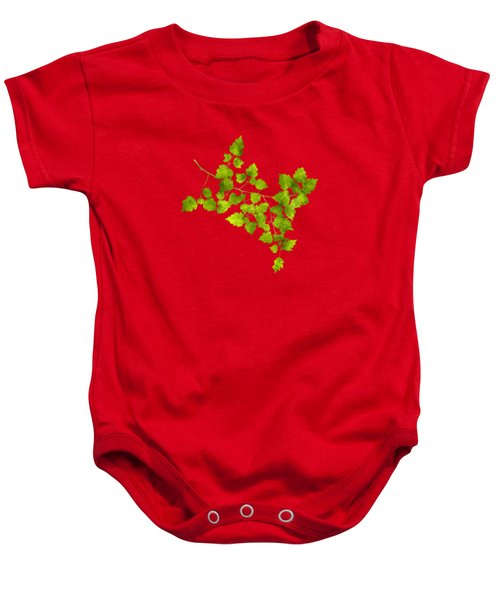 Baby Onesie featuring the mixed media Hawthorn Pressed Leaf Art by Christina Rollo