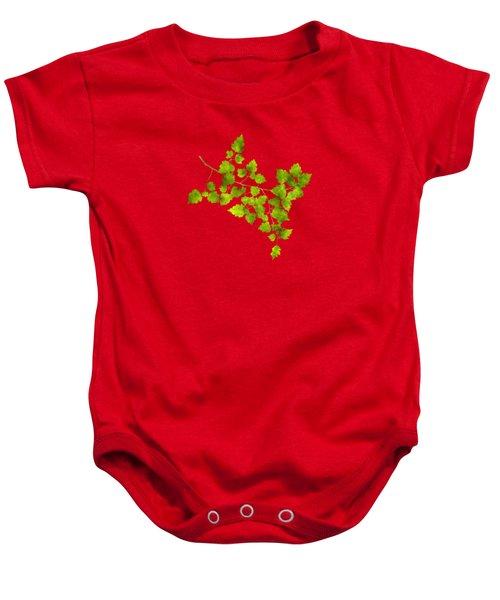 Hawthorn Pressed Leaf Art Baby Onesie