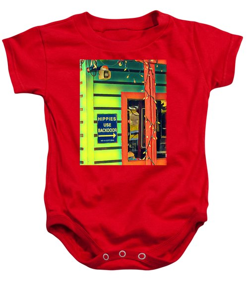 Hippies Use Backdoor Baby Onesie