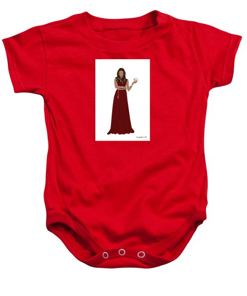 Baby Onesie featuring the digital art Hoda by Nancy Levan