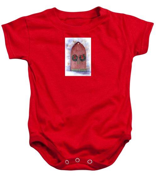 Holiday Chapel Baby Onesie