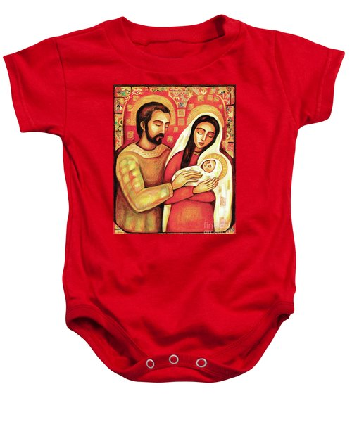 Baby Onesie featuring the painting Holy Family by Eva Campbell