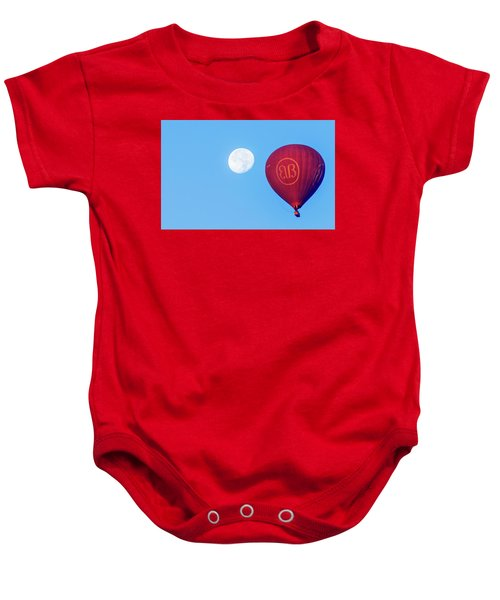 Hot Air Balloon And Moon Baby Onesie