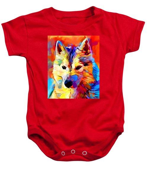 Husky 4 Baby Onesie