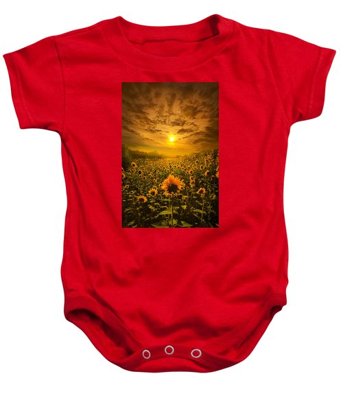 I Believe In New Beginnings Baby Onesie
