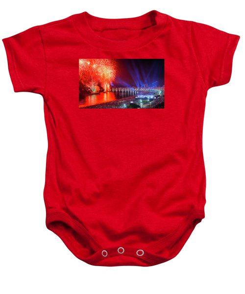 Iconic And Breath-taking Fireworks Display On Copacabana Beach,  Baby Onesie