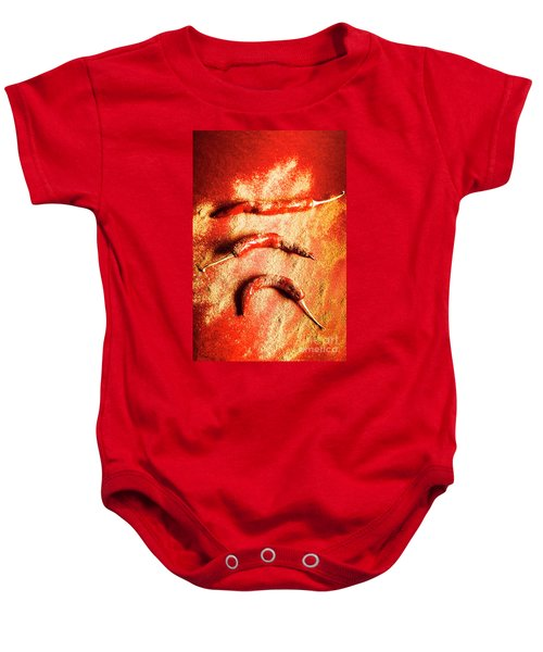 Indian Food Seasoning And Spices Baby Onesie