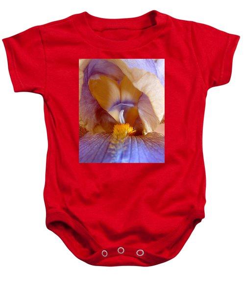 Inner Iris Series, Yellow Purple Baby Onesie
