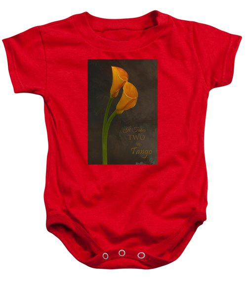 It Takes Two To Tango With Message Baby Onesie