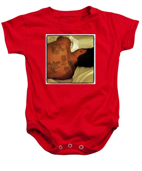 Baby Onesie featuring the photograph I've Just Been So Enjoying The Street by Mr Photojimsf
