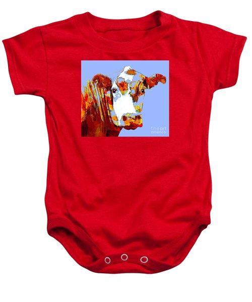 Purple Cow Baby Onesie
