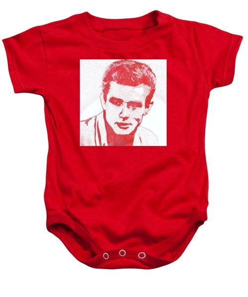 James Dean Pop Art Baby Onesie by Mary Bassett